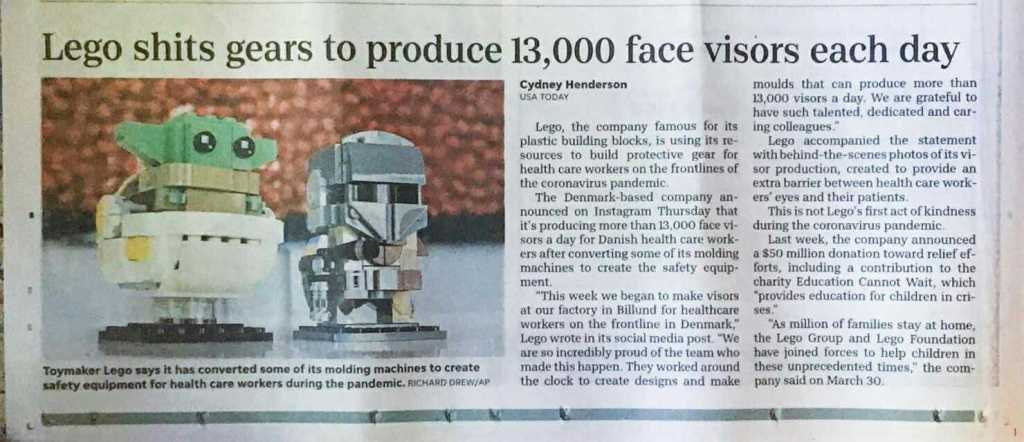 An example of a newspaper headline that could have used some proofreading techniques.